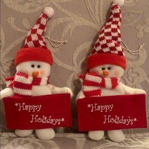 Snowmen ornaments